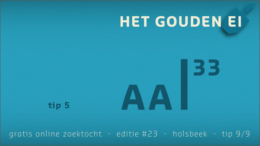 Tip 9 van Het Gouden Ei van Holsbeek