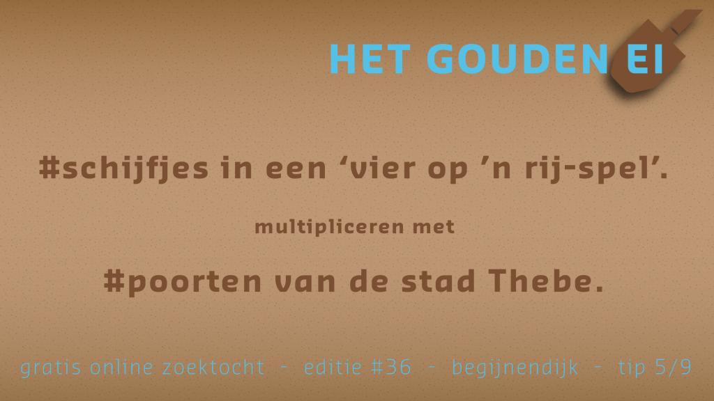 Tip 5 van Het Gouden Ei van Begijnendijk