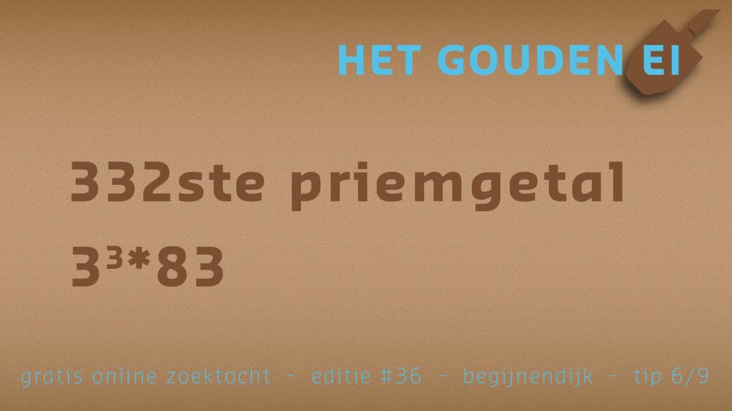 Tip 6 van Het Gouden Ei van Begijnendijk