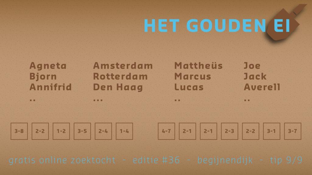 Tip 9 van Het Gouden Ei van Begijnendijk