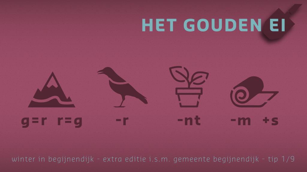 Tip 1 van Het Gouden Ei van Begijnendijk